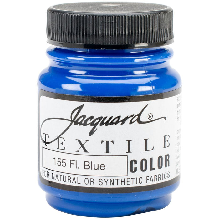 Jacquard Textile Color Fabric Paint 2.25oz Fluorescent Blue