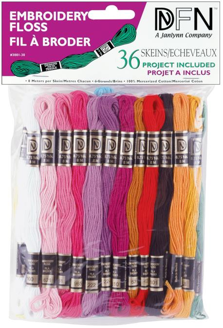 Cotton Embroidery Floss Assorted Pastel Colors