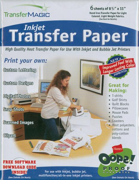 Ink Jet Transfer Paper 6 Sheets