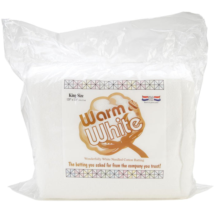 Warm and White Cotton Batting King Size