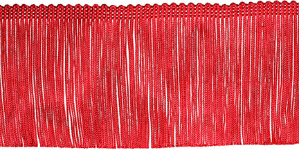 Chainette Fringe Trim Red 4inX12yds
