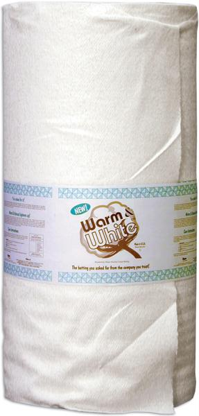 "Warm and White Cotton Batting Crib Size 45""X40 Yards"