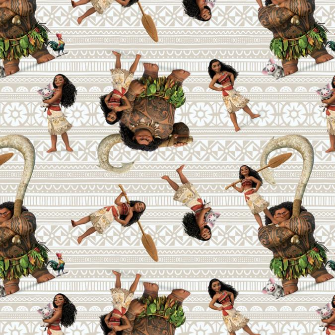 Disney Moana And Friends 100% Cotton 43/44inX15yds D/R