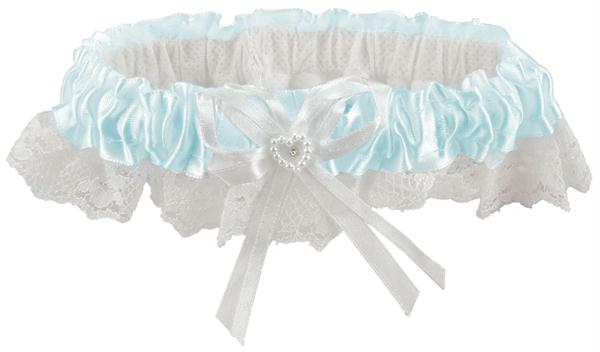 Lace Garter Light Blue