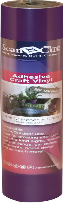 Brother ScanNCut Adhesive Craft Vinyl Plum 12inX6ft