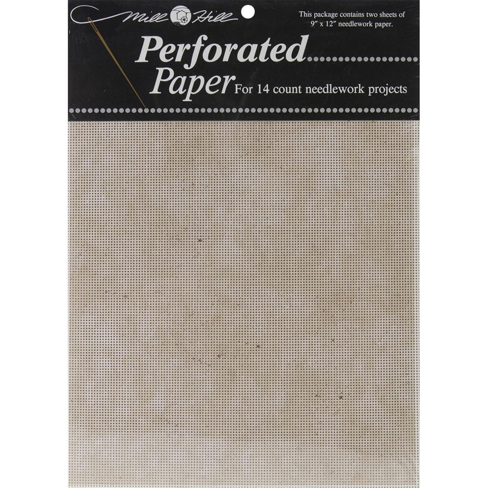"Mill Hill Stylized Perforated Paper 9""X12"" 2-Pkg-Natural Granite (14 Count)"