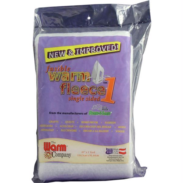 Warm Fleece Polyester Fusible Batting 36inX45in