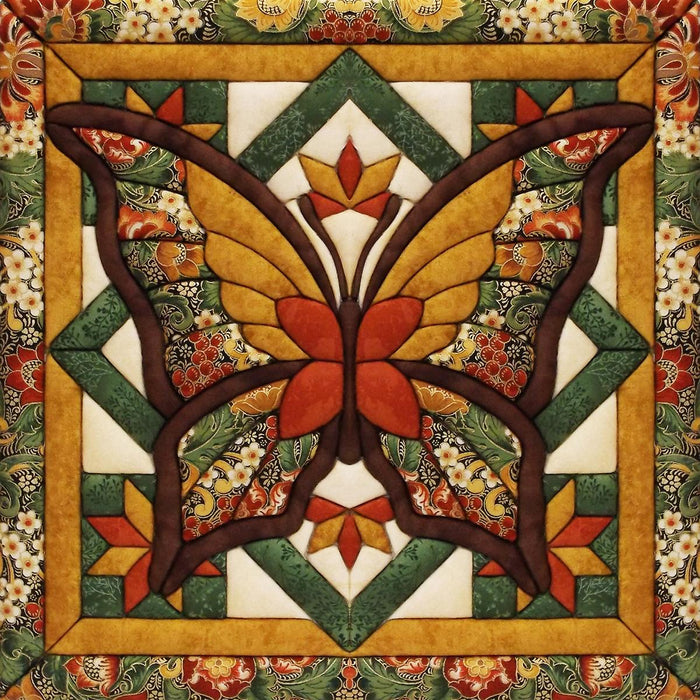 Fall Butterfly Quilt Magic Kit 12inX12in