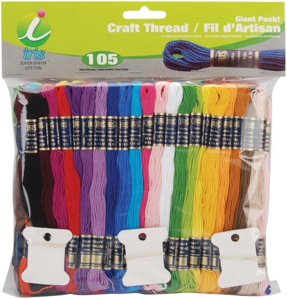 Craft Thread Giant Pack Assorted Colors