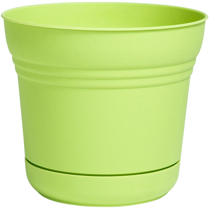 "Saturn Planter 14""-Honey Dew"