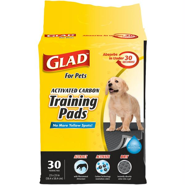 Glad Activated Carbon Training Pads 30-Pkg-