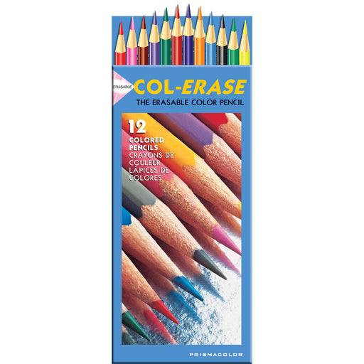 Prismacolor Col-Erase Erasable Colored Pencils 12-Pkg-