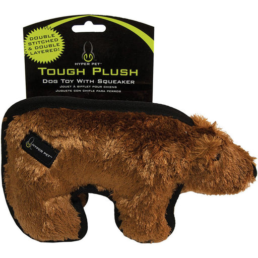 "Hyper Pet Tough Plush Animal 10""-Brown Bear"