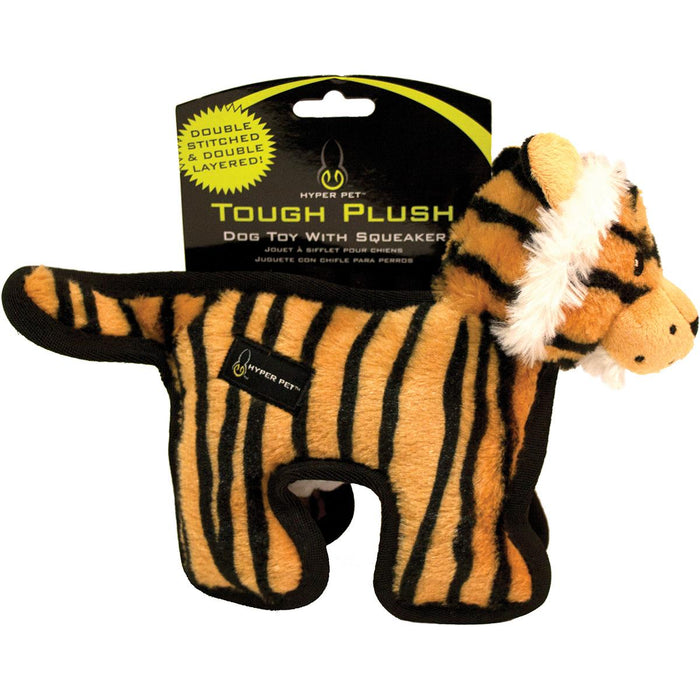 "Hyper Pet Tough Plush Animal 10""-Tiger"