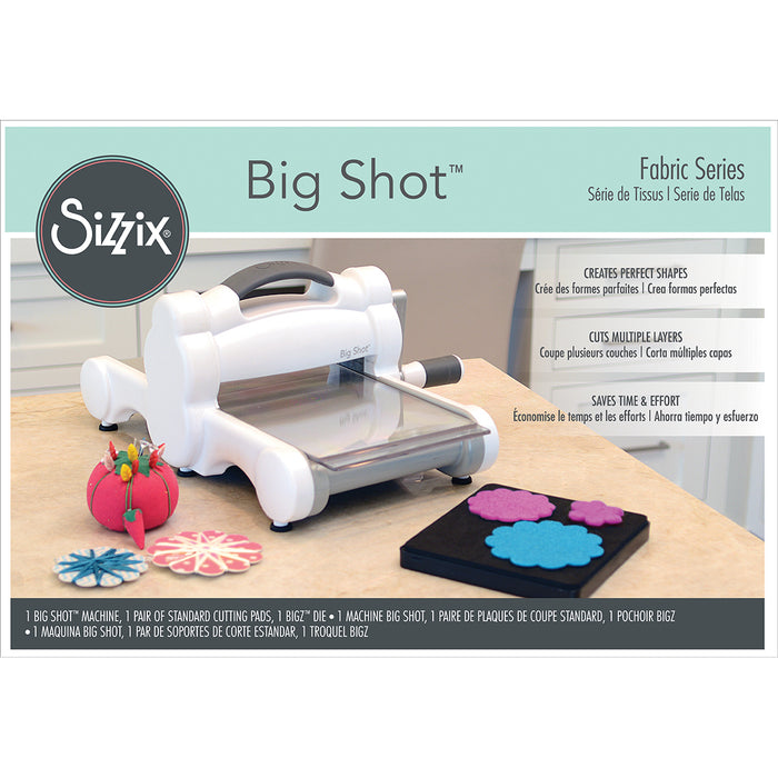 Sizzix Big Shot Fabric Series Starter Kit White & Gray 661580