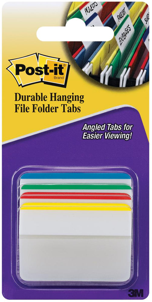 "Post-It Durable Filing Tabs 2""X1.5"" 24/Pkg"
