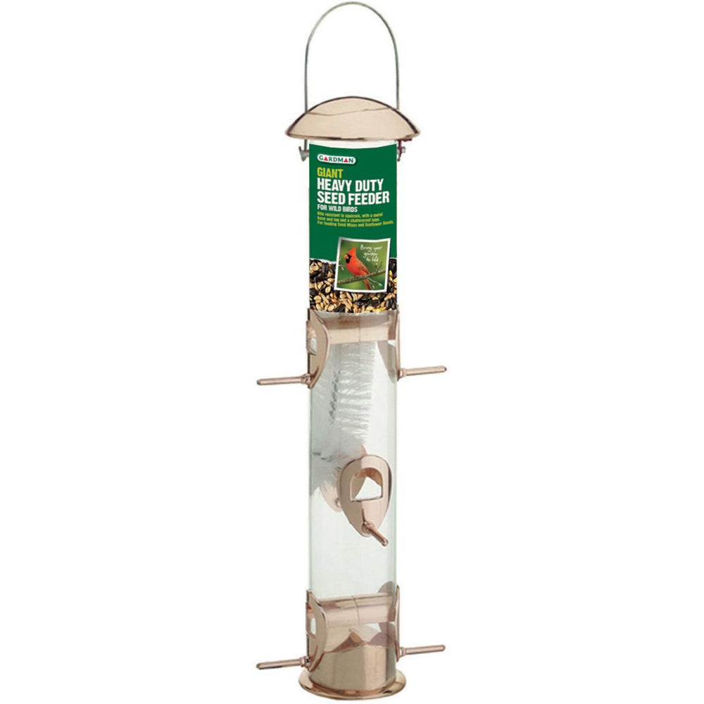 "Giant Heavy-Duty Copper Seed Feeder 16""H.-"