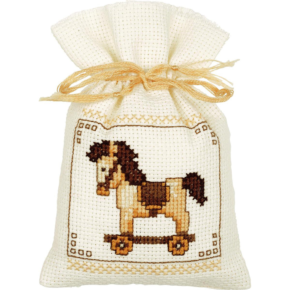 "Vervaco Counted Cross Stitch Kit 2""X2.5"" 3-Pkg-Bags Toys On Aida (18 Count)"