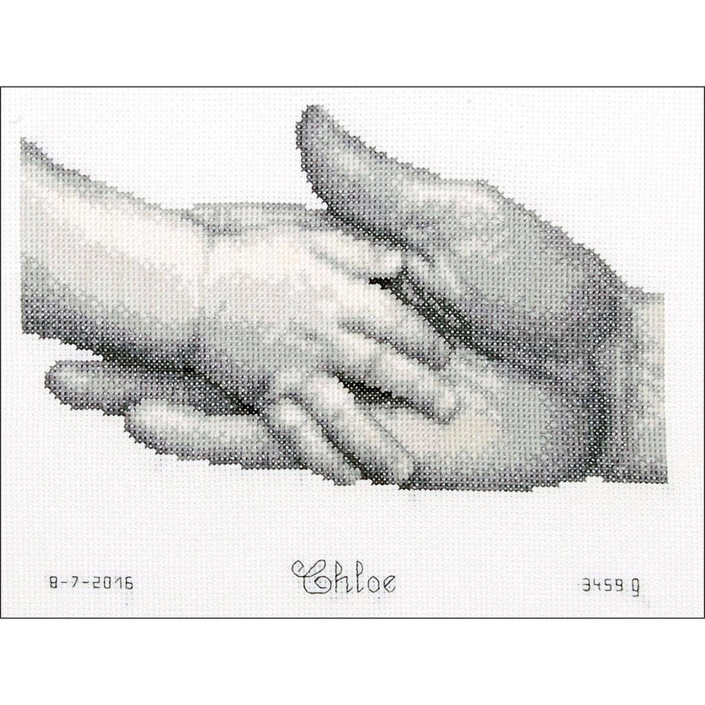 "Vervaco Counted Cross Stitch Kit 8.5""X7""-Hands On Aida (14 Count)"