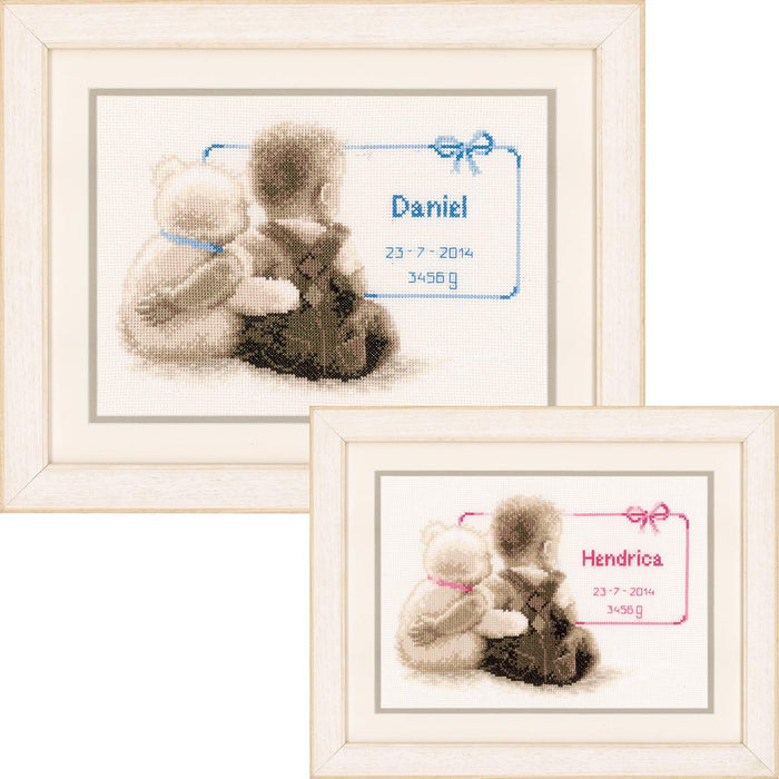 "Vervaco Counted Cross Stitch Kit 9.5""X6.5""-My Favorite Teddy On Aida (14 Count)"