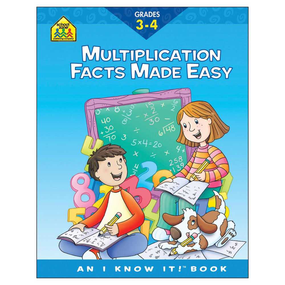 I Know It! Workbook-Multiplication Facts - Grades 3-4
