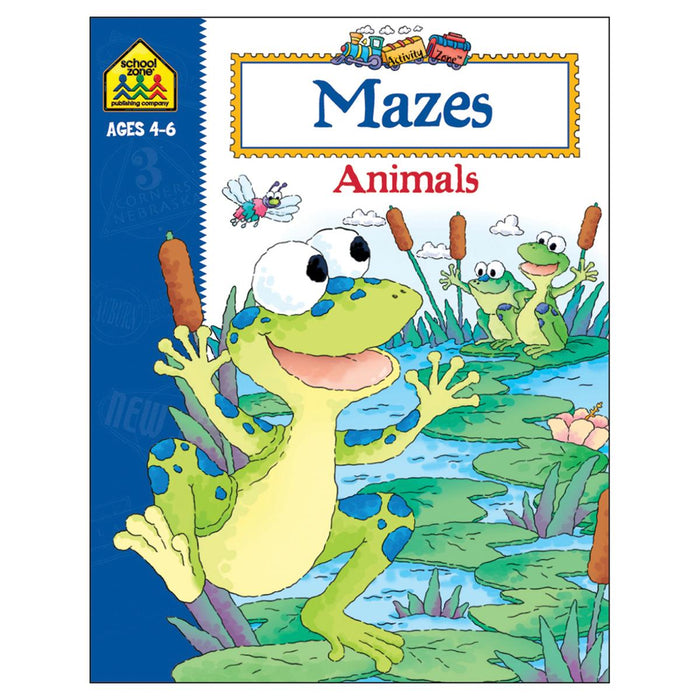 Activity Zone Workbook-Mazes Animals - Ages 4-6