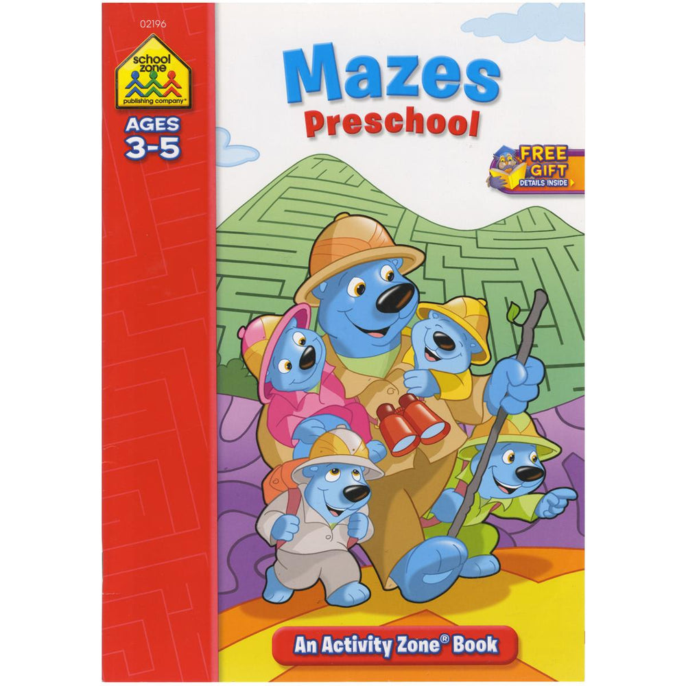 Activity Zone Workbook-Mazes Preschool - Ages 3-5