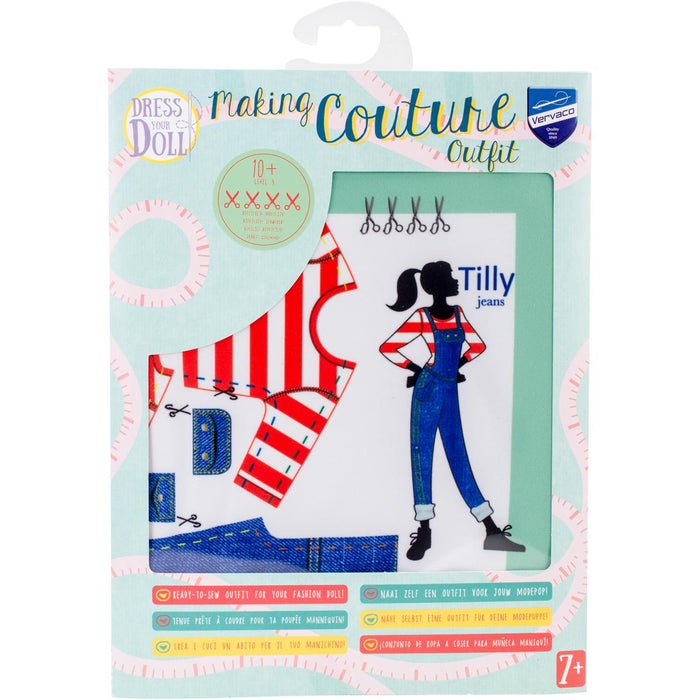 Dress Your Doll Making Couture Outfit Set Tilly Jeans