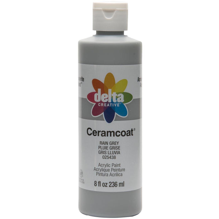 Ceramcoat Acrylic Paint 8oz-Rain Grey