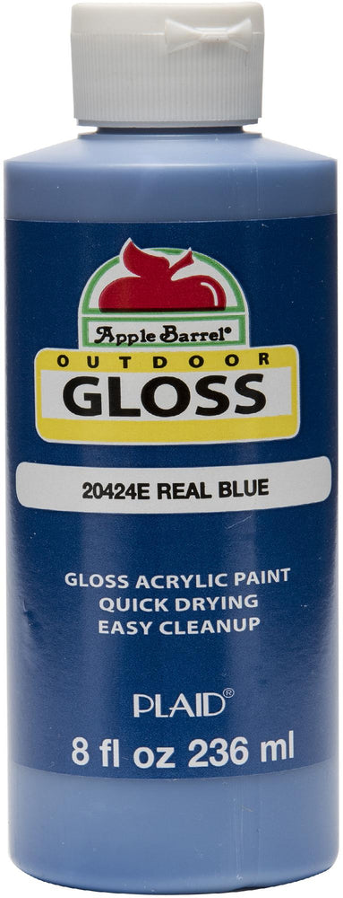 Apple Barrel Gloss Acrylic Paint 8oz-Real Blue