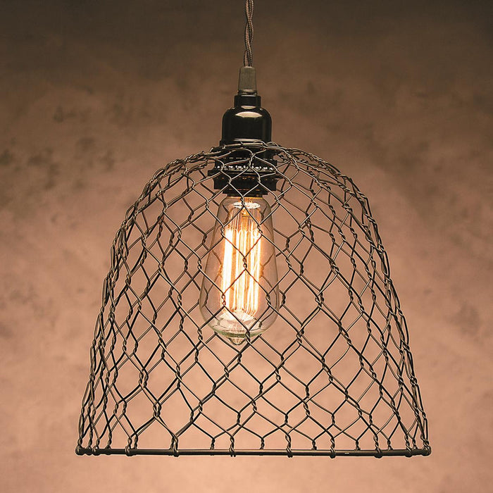 "Metal Chickenwire Dome Lampshade 10""X8.25""-"