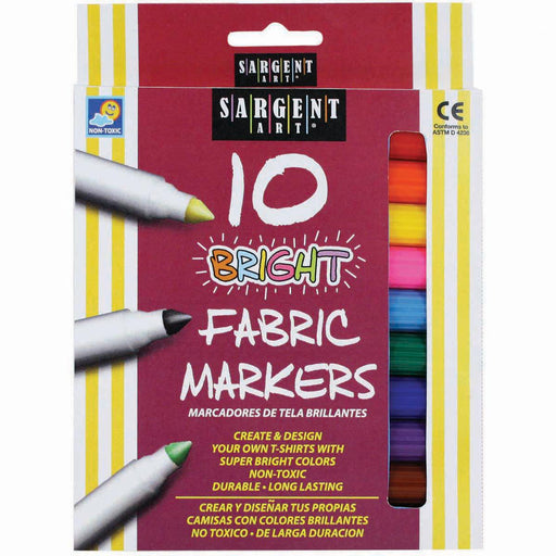 Bright Fabric Markers 10-Pkg-