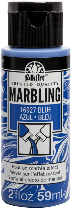 FolkArt Marbling Paint 2oz-Blue
