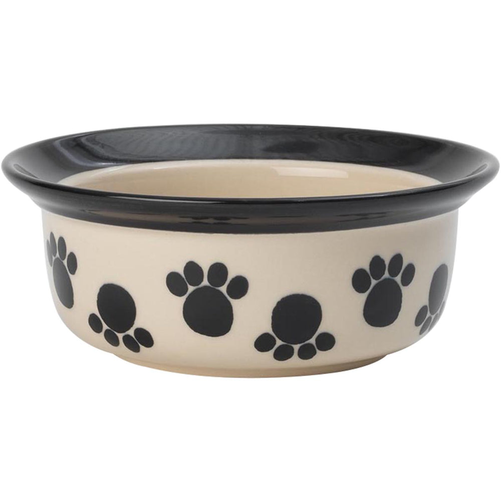 PetRageous Designs Paws n' Around Bowl - Holds 2 Cups-Black