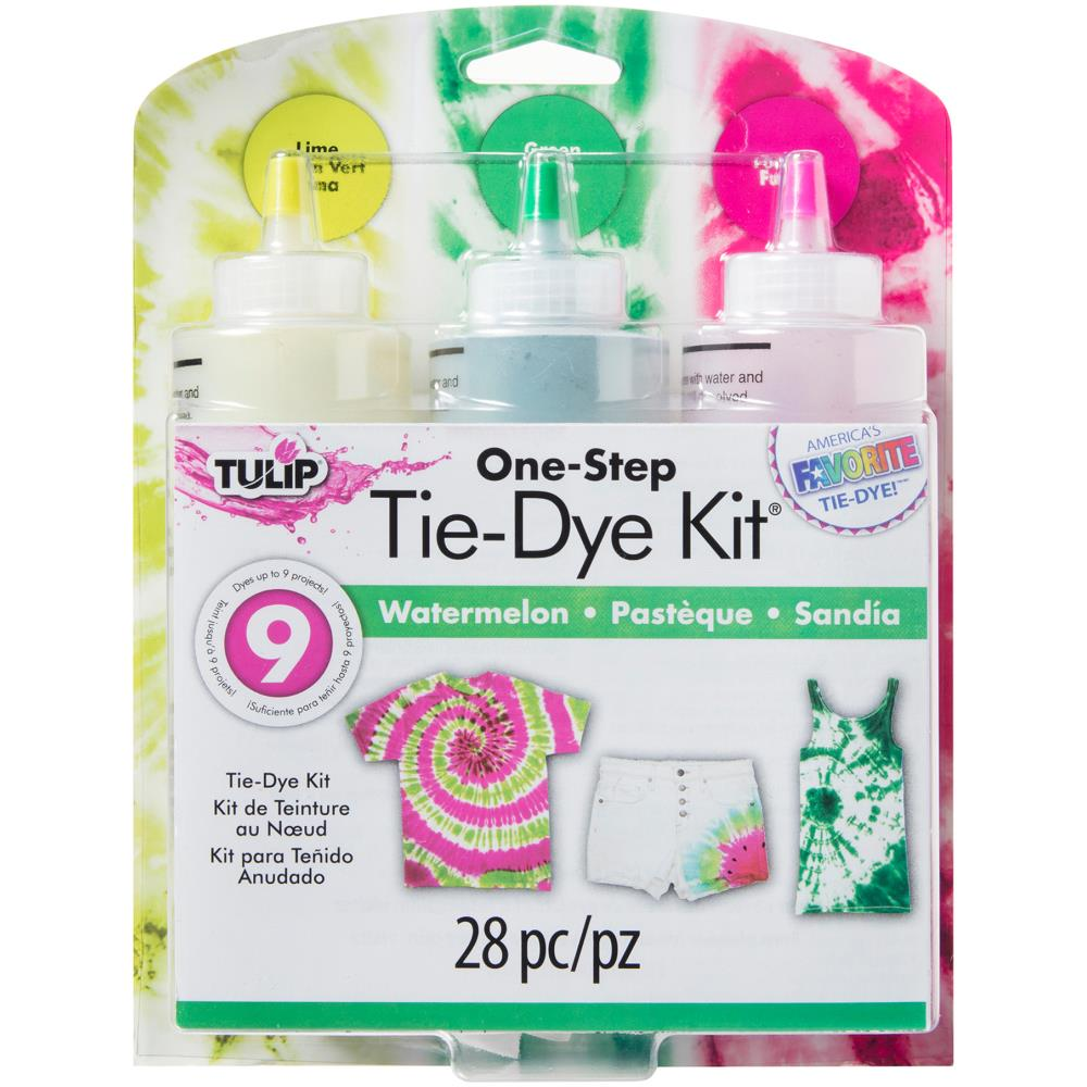 Tulip One Step Tie Dye Kit 3 Color Watermelon Quilting Warehouse