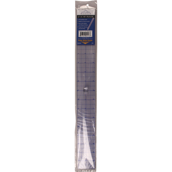 design ruler with knob 2inx18in quilting warehouse
