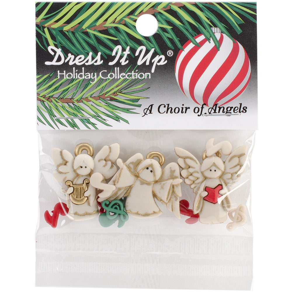 Dress It Up Holiday Embellishments A Choir Of Angels