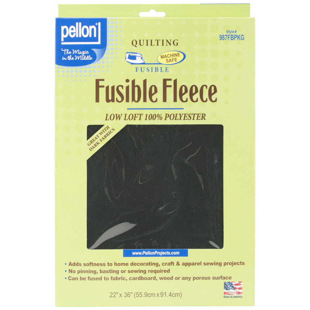 Fusible Fleece Black 22inx36in