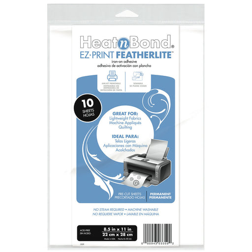 HeatnBond EZ-Print Featherlite Iron-On Adhesive White