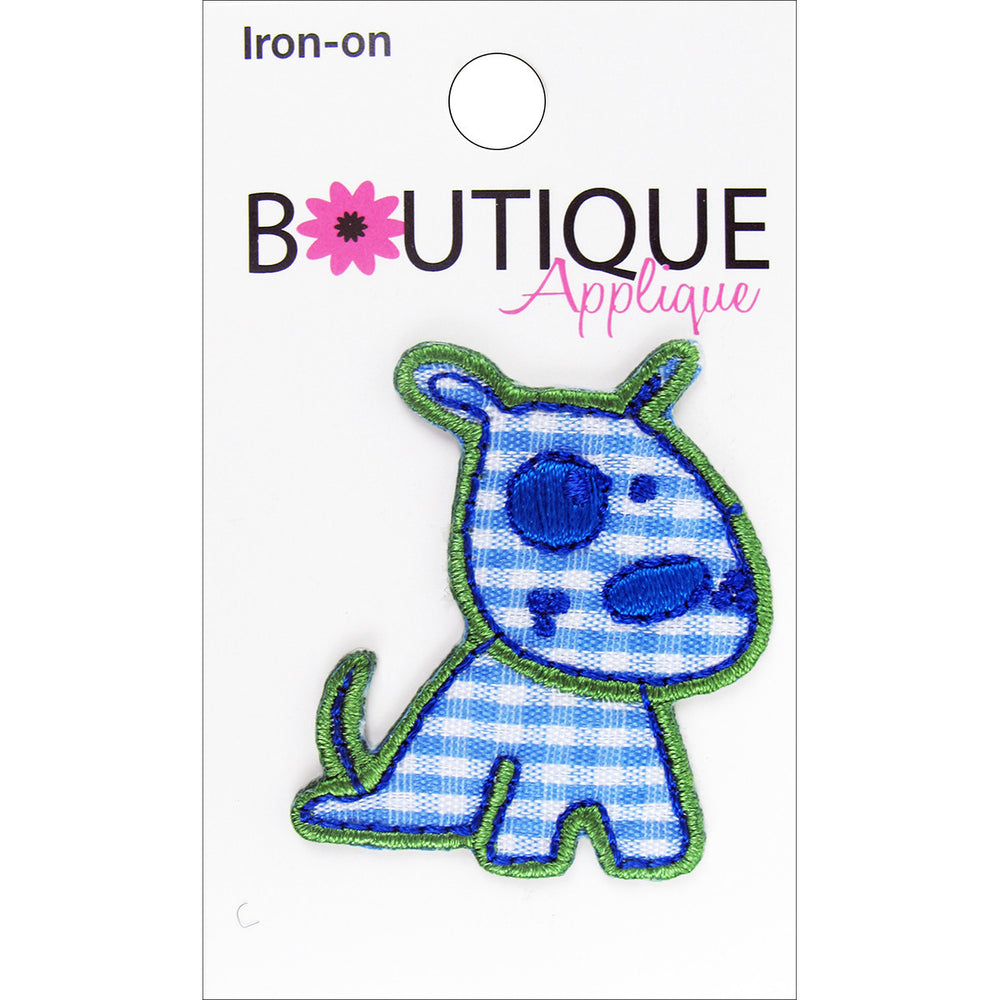 Iron-On Appliques Blue Dog