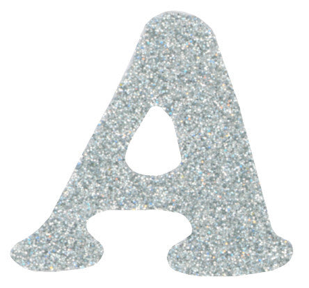 Iron-On Glitzerz Letters Silver