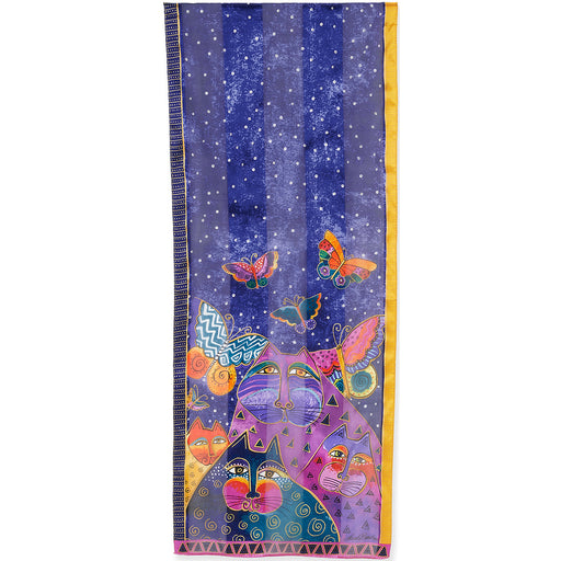 Laurel Burch Scarf Cats With Butterflies