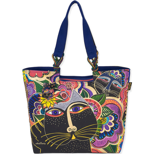 Laurel Burch Shoulder Tote Carlotta's Cats 21X5X15