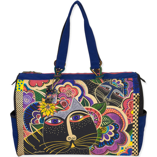 Laurel Burch Travel Bag Carlotta's Cats 21X8X15