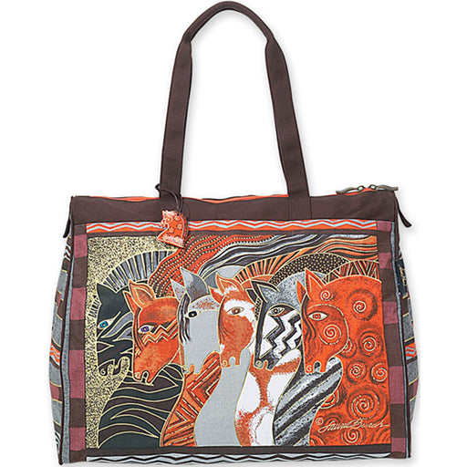 Laurel Burch Travel Bag Moroccan Mares 20X9X16