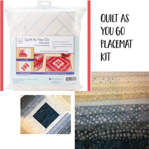 Quilt as You Go Placemat Kit with Batiks
