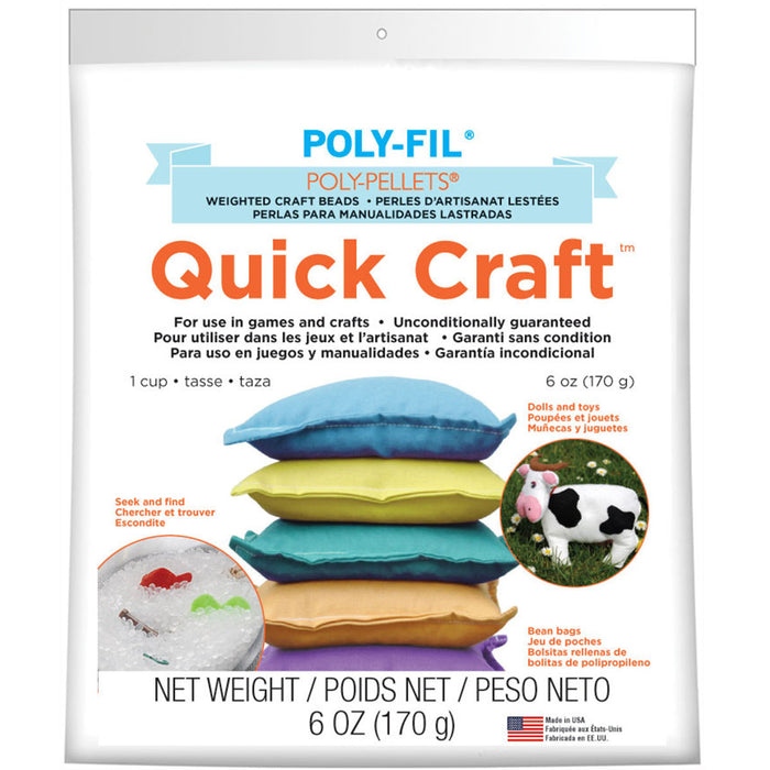 Quick Craft Weighted Poly-Pellets White 6oz