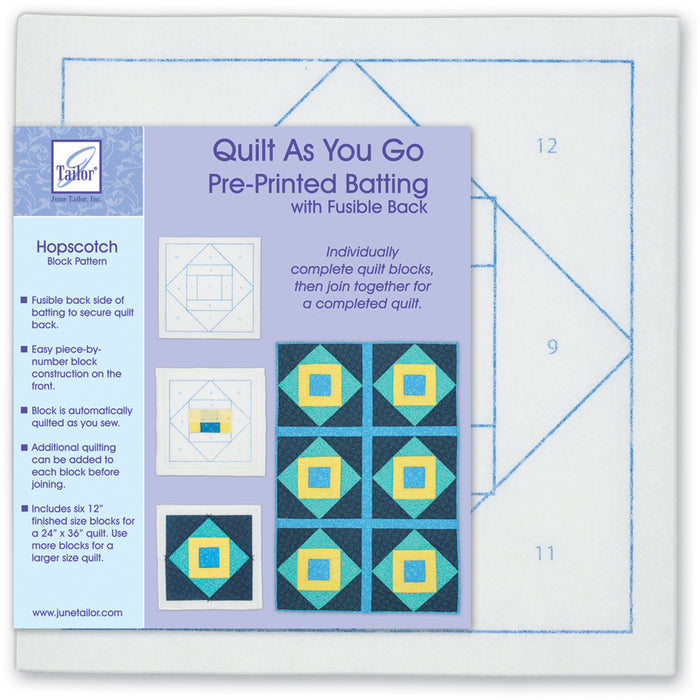 Quilt As You Go Printed Quilt Blocks On Batting Hopscotch
