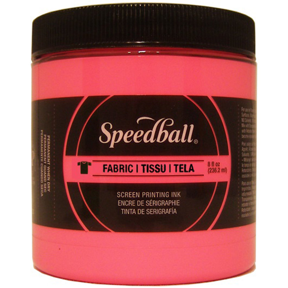 Speedball Fabric Screen Printing Ink Fluorescent Hot Pink 8oz