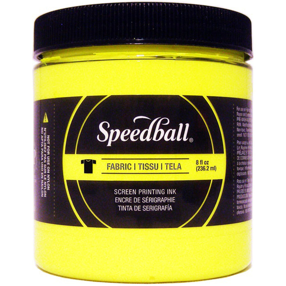 Speedball Fabric Screen Printing Ink Fluorescent Yellow 8oz